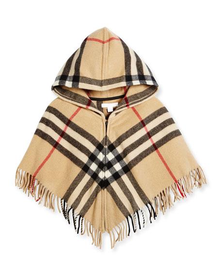 Victoria Hooded Check Cape, New Classic, Size M-L