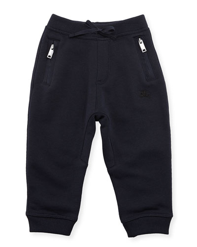 Phill Cotton Track Pants, Dark Navy, Size 6M-3