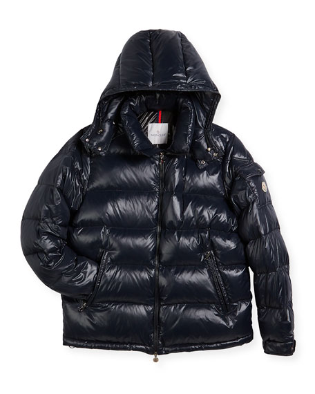 Moncler Maya Quilted Down Jacket, Black, Size 8-14