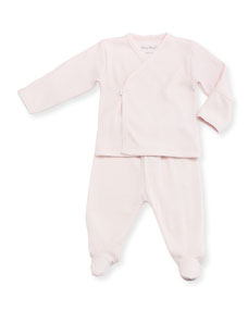 88bee4c12 Kissy Kissy Two-Piece Pointelle Footed Pajama Set