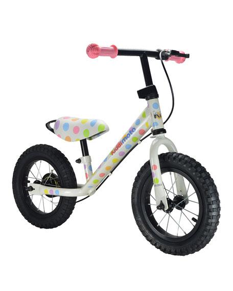 Super Junior Max Pastel Dotty Balance Bike