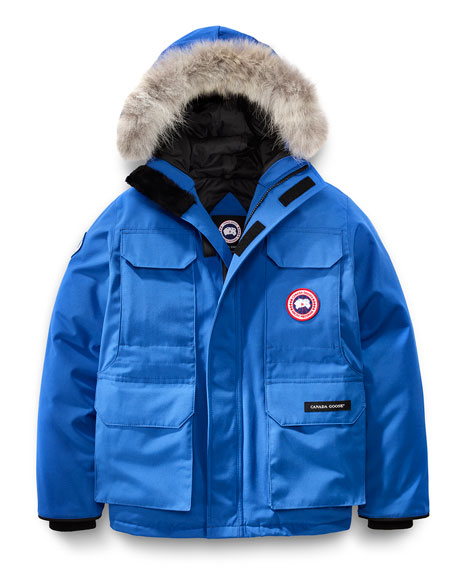 canada goose pbi expedition hooded parka royal blue size xs xl