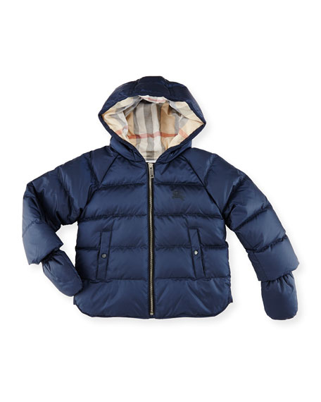 aa856c2b6 Burberry Rilla Hooded Raglan Puffer Jacket