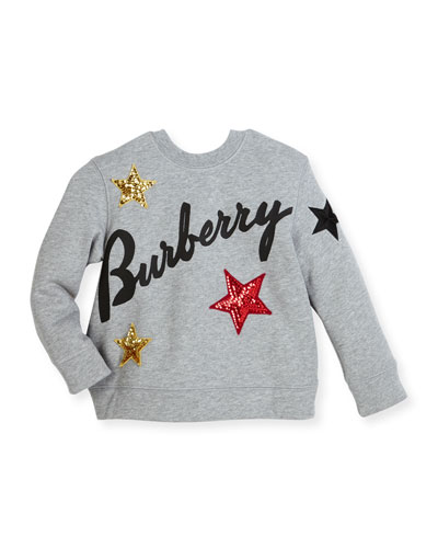 Melange Star Sweatshirt, Gray, Size 4Y-14Y