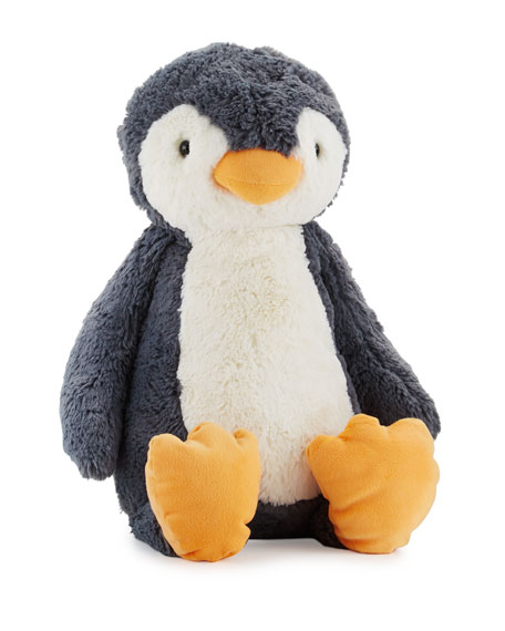 Huge Bashful Penguin Stuffed Animal, Black/White