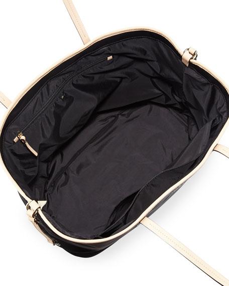 classic nylon harmony baby bag, black