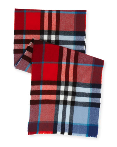 Kids' Exploded Check Wool Scarf