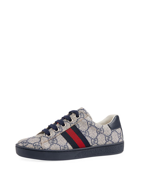 Gucci New Ace GG Tennis Shoe, Youth