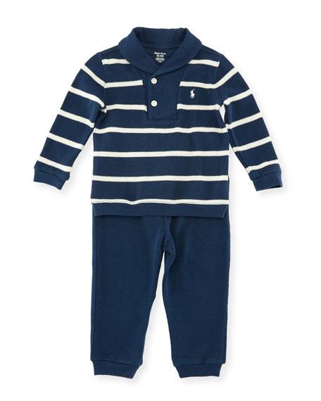 Ralph Lauren Childrenswear Two-Piece Velour Set