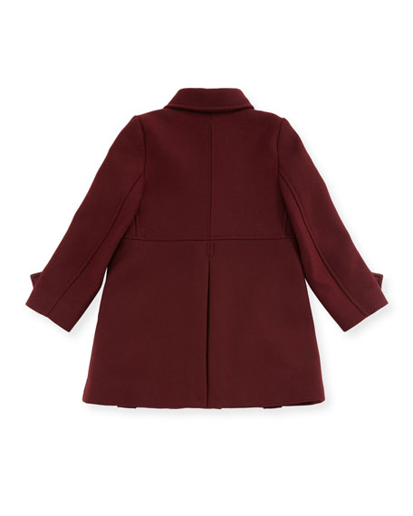 Frieda Double-Breasted Wool-Blend Coat, Size 6M-3Y