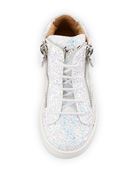 Mattglitt High-Top Glitter Sneaker, Toddler