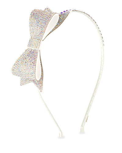 Girls' Crystal Bow Headband