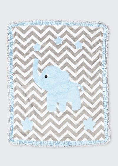 Big Foot Plush Chevron Elephant Blanket