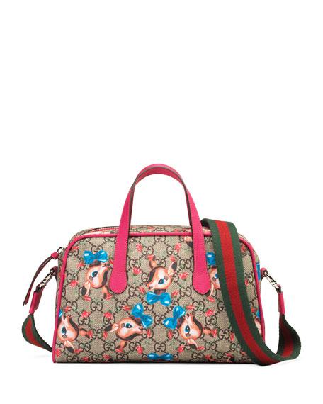 e825439253aa Gucci GG Supreme Gucci Wolves Diaper Bag