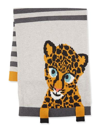 Tom Tom Leopard Intarsia Baby Blanket