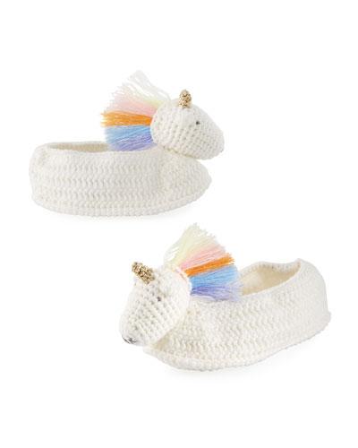 Rainbow Unicorn Crochet Booties  Baby