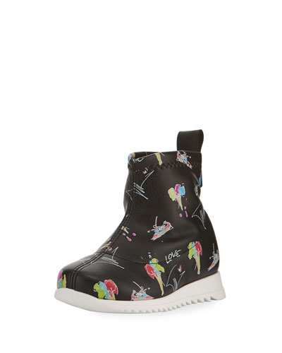 Candy Printed Leather High-Top Sneakers  Toddler