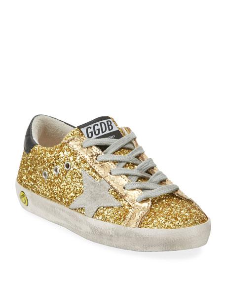 c6799d9606194 Golden Goose Superstar Glitter Fabric Low-Top Sneakers, Baby/Toddler