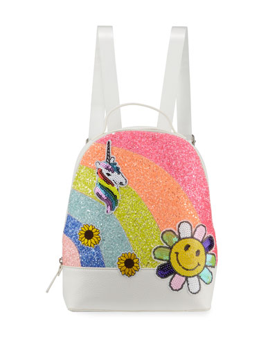 Girls' Glitter Sugar Sequin Patch Backpack
