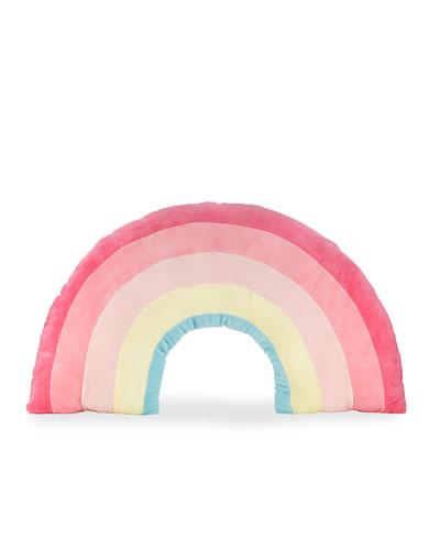 Kids' Plush Rainbow Pillow