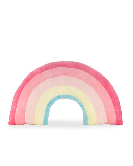 Image 1 of 1: Kids' Plush Rainbow Pillow