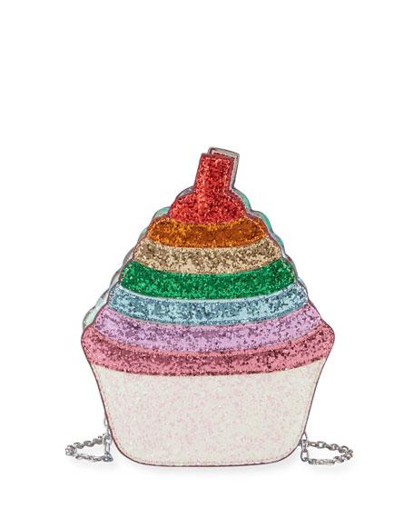 Girls' Glittered Cupcake Crossbody Bag