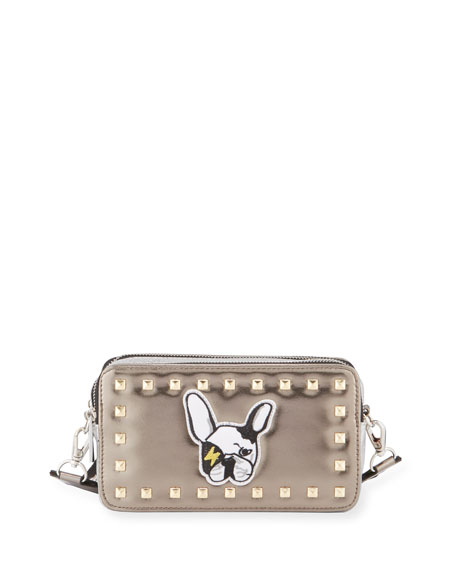 33d673da37d Bari Lynn Girls  Metallic Bulldog Crossbody Bag