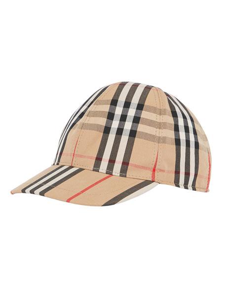 Kid's Check & Icon Stripe Baseball Cap