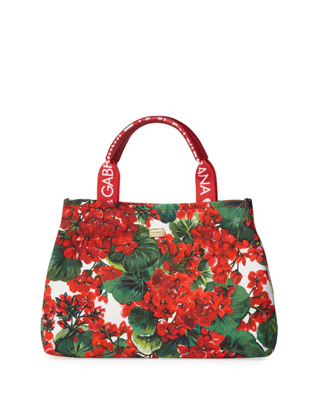 Kids' Geranium Canvas Tote Bag