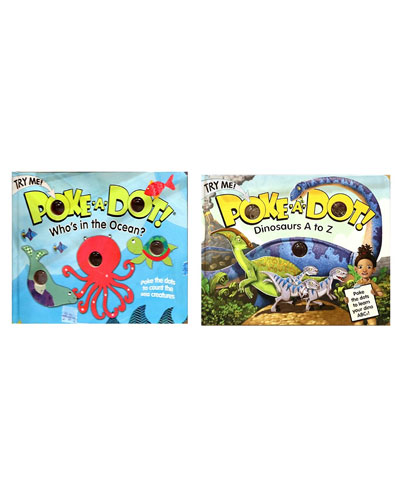 Poke A Dot Book Bundle - Dinosaurs A to Z and Who's in the Ocean? Books