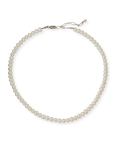 Girl's Classic Pearl Necklace