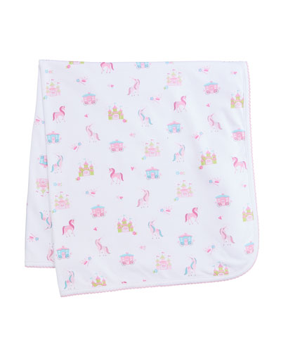 Unicorn Castle Printed Baby Blanket