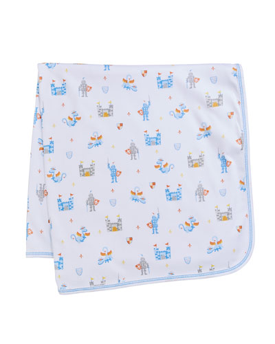 Dragon Castle Printed Baby Blanket