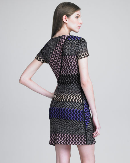 Zigzag Contrast Dress