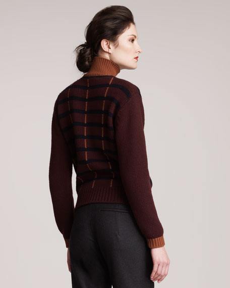 Intarsia-Striped Sweater