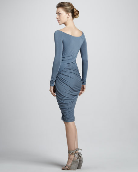 Draped Drop-Waist Dress, Tempest