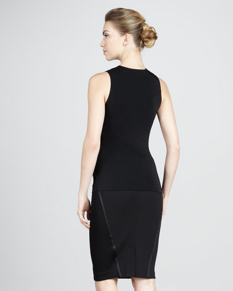 Pull-On Stretch Skirt, Black