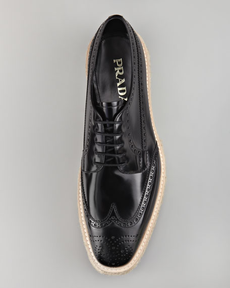 Wing-Tip Espadrille Oxford