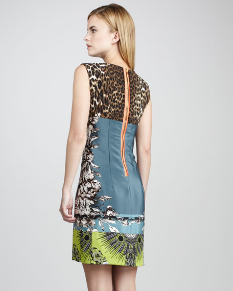 Ginny Printed Silk Dress