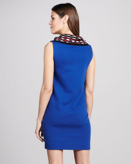 Jersey Cowl-Neck Dress