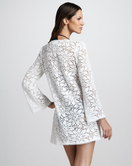 Chrysanthemum Crochet Tunic Coverup