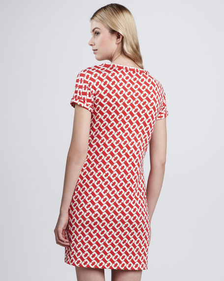 Beth Chain-Print Silk Dress