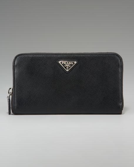 Saffiano Zip Around Wallet