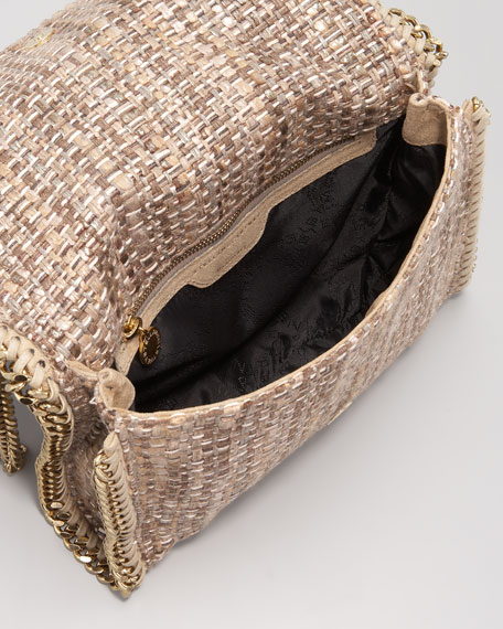 Metallic Boucle Crossbody Bag