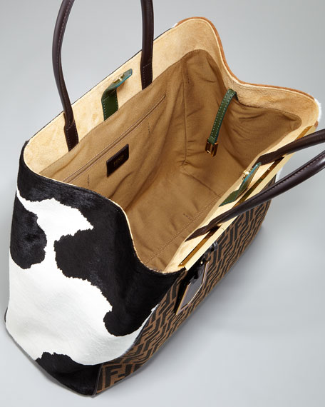 2Jours Zucca Calf-Hair Tote Bag