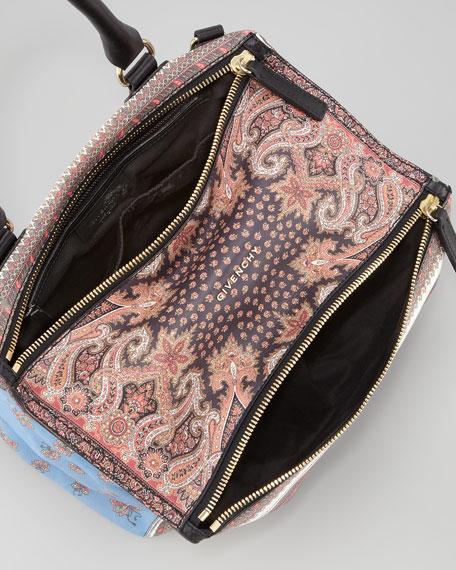 Pandora Mix Printed Leather Medium Satchel Bag