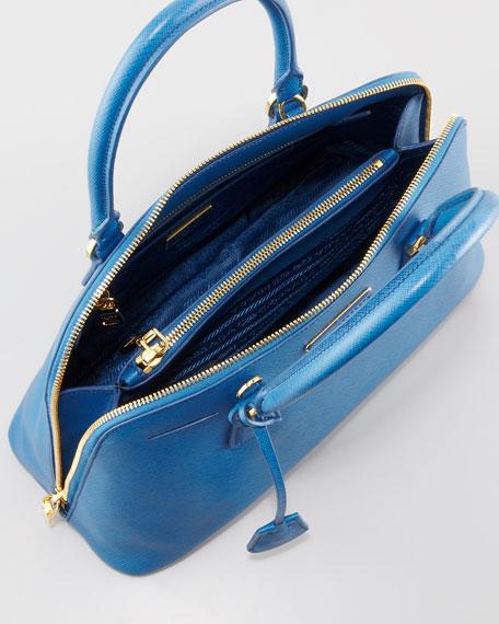 Medium Saffiano Promenade Bag, Cobalt