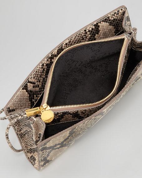 Patchwork Wristlet Clutch Bag, Cream