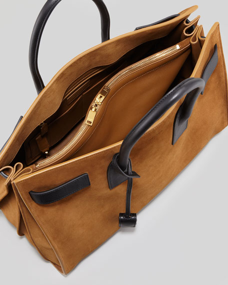 Sac De Jour Suede Tote, Light Brown