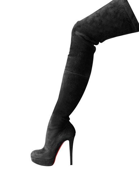 Suede Over-The-Knee Platform Boot